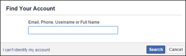 Hackers use Using Forgot Password Method fot Facebook messenger login