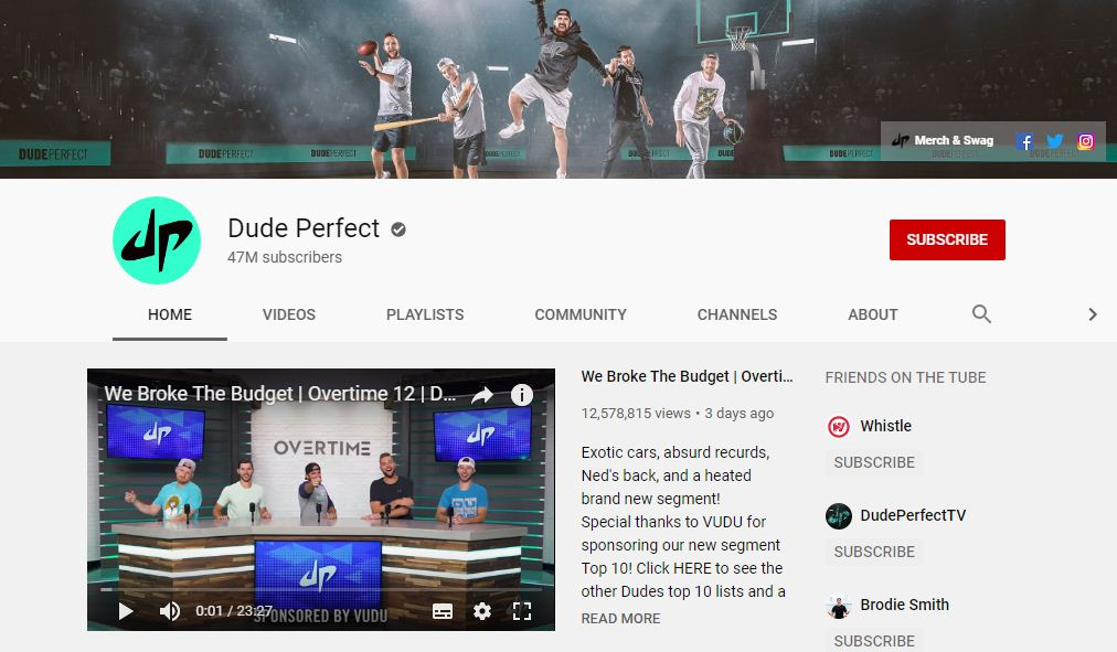 Dude Perfect- Trends on youtube