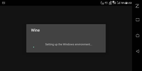 get wine to install windows emulator for android