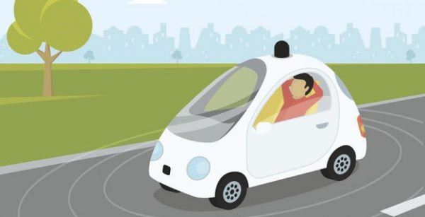 user can relax while riding a self driving car
