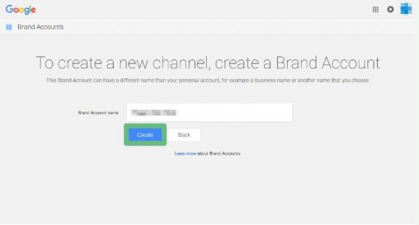 Create brand account for establishing youtube for gamers
