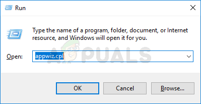 Run dialogue box and type appwiz.cpl