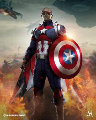 Sam Wilson Is The  black captain america