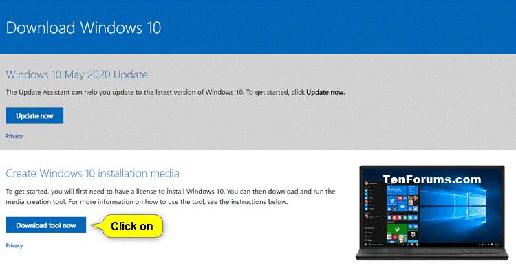 Create Bootable USB Flash Drive to Install Windows 10