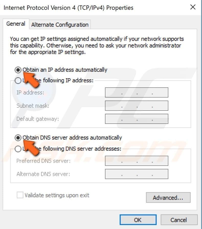 configure tcp ip settings manually step 4