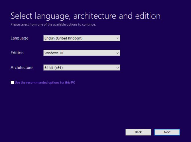 Set the correct language for Windows 10