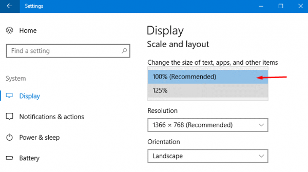 How to Enable Display Custom Scaling on Windows 10