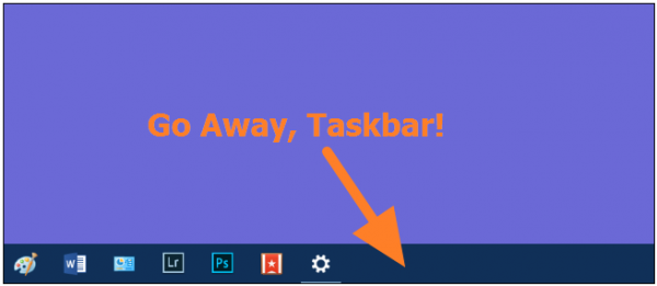 Windows 10 taskbar not hiding