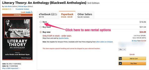 amazon rentals book