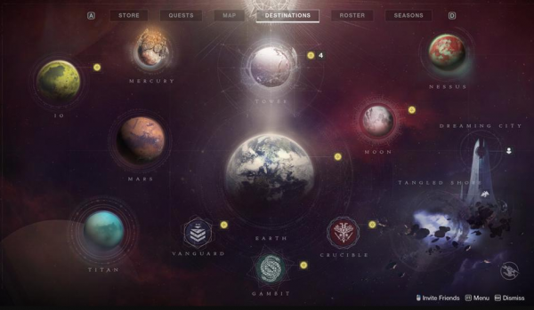 Planets in Destiny 3