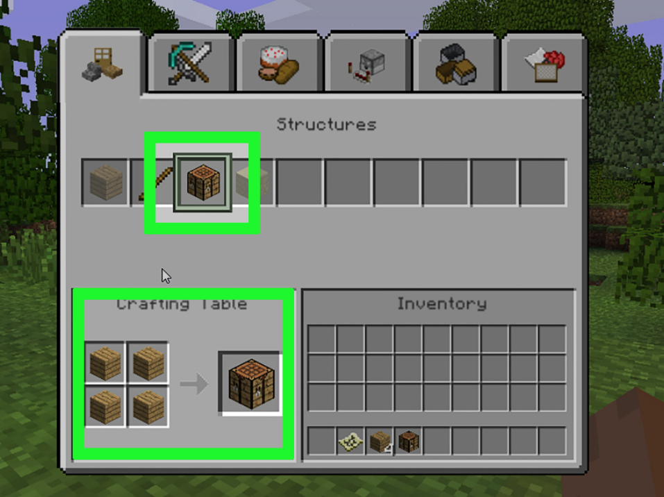 Crafting Table in Microsoft Fence