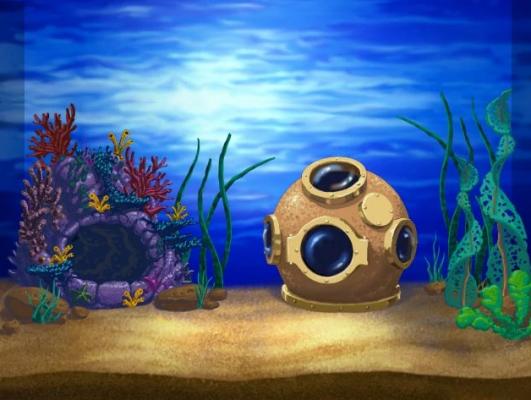 Tank 1 backdrop Insaniquarium