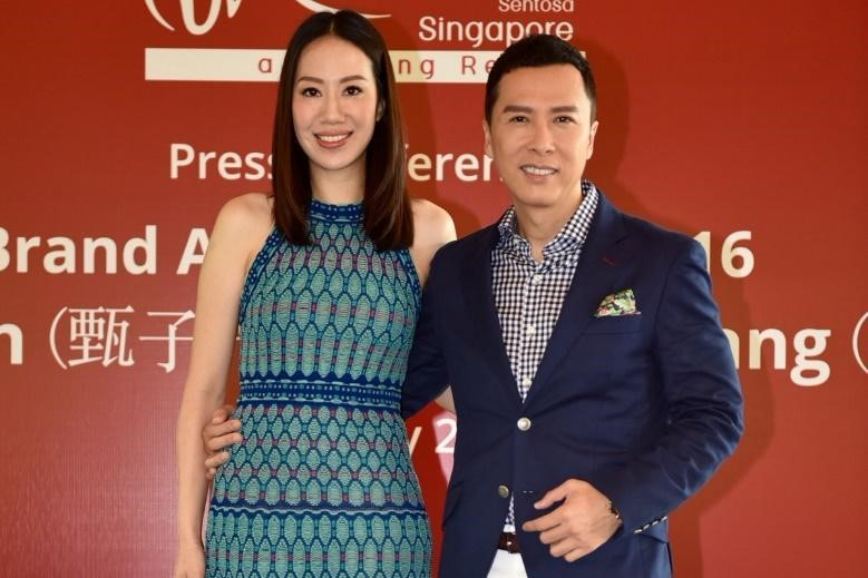 Picture: Donnie Yen and His Wife
