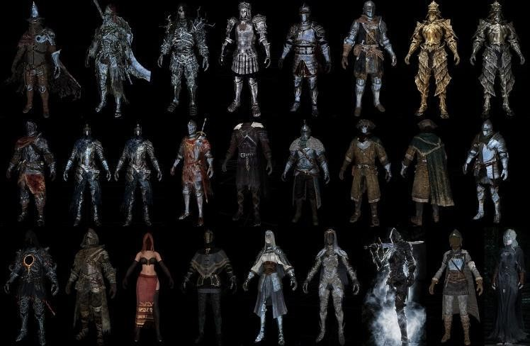 Picture: Armor Sets in Dark Souls