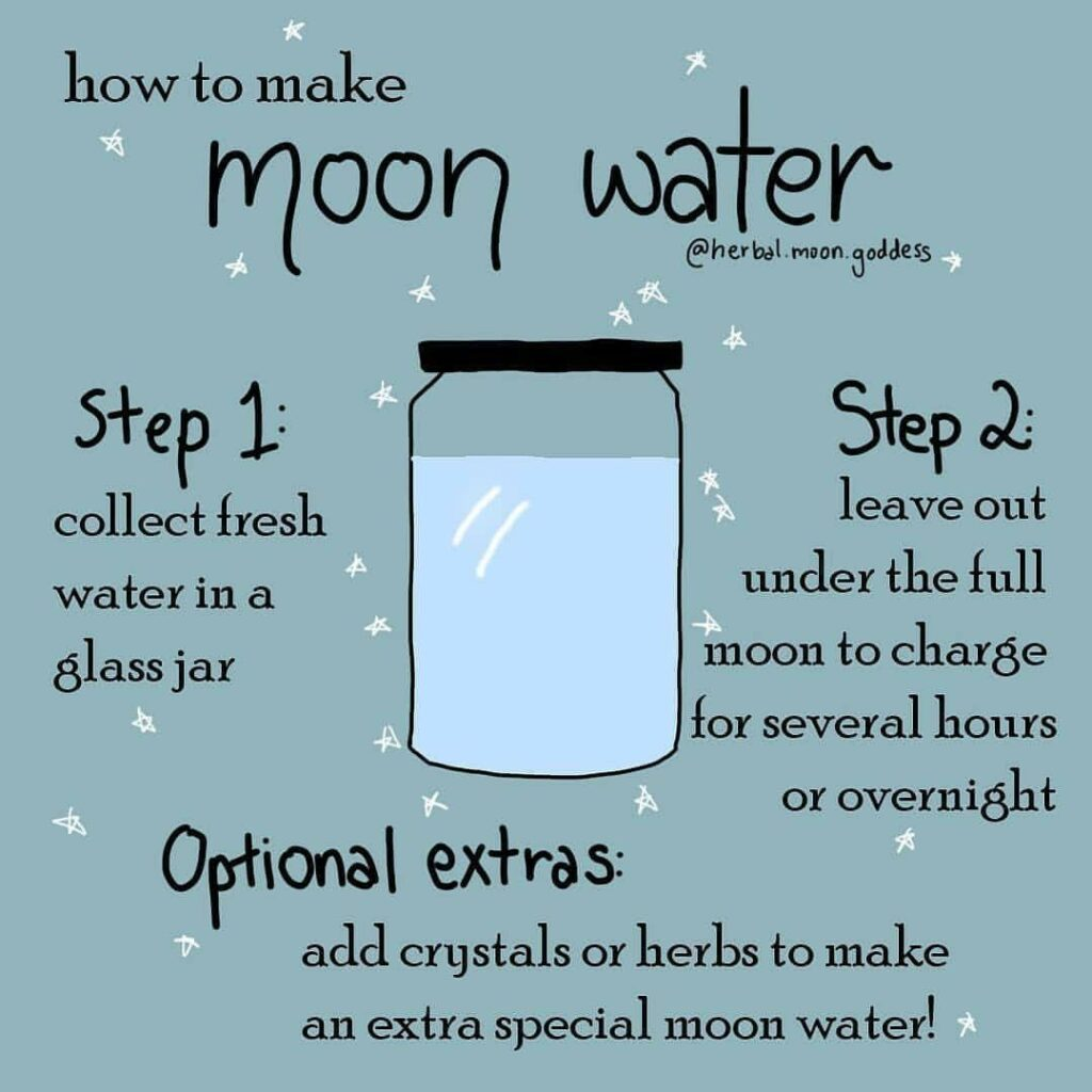 Picture: How to create moon water